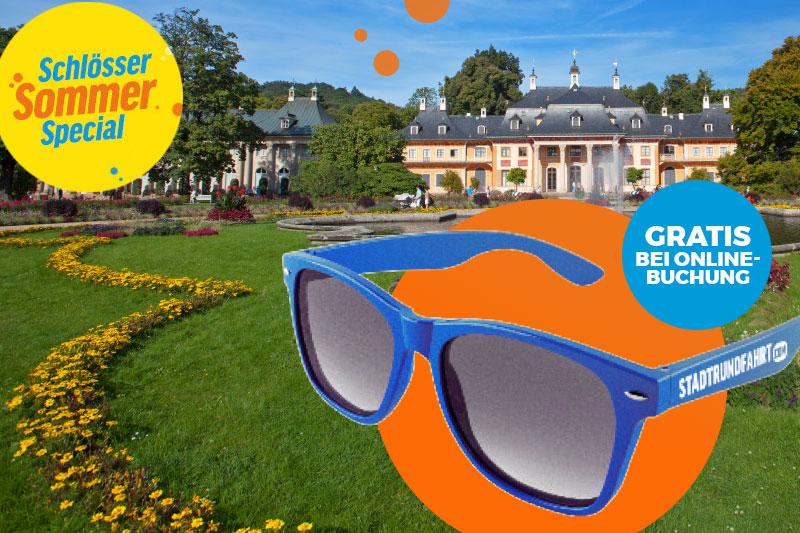 Schlösser-Sommerspecial - Sonnenbrille gratis