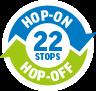 zur Großen Stadtrundfahrt 22 Haltestellen Hop-On Hop-Off