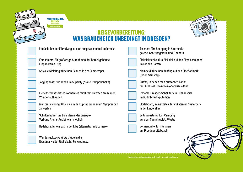 Checkliste Stadtrundfahrt Dresden Tipps