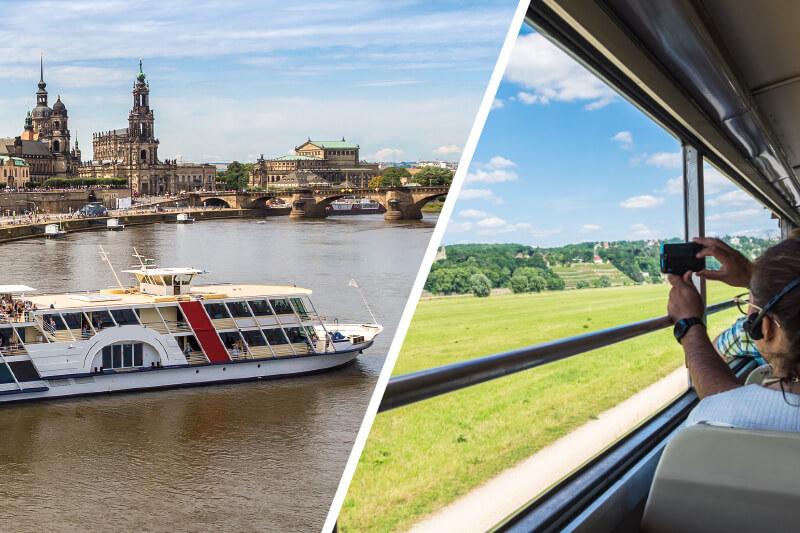 Abendfahrt durch Dresden